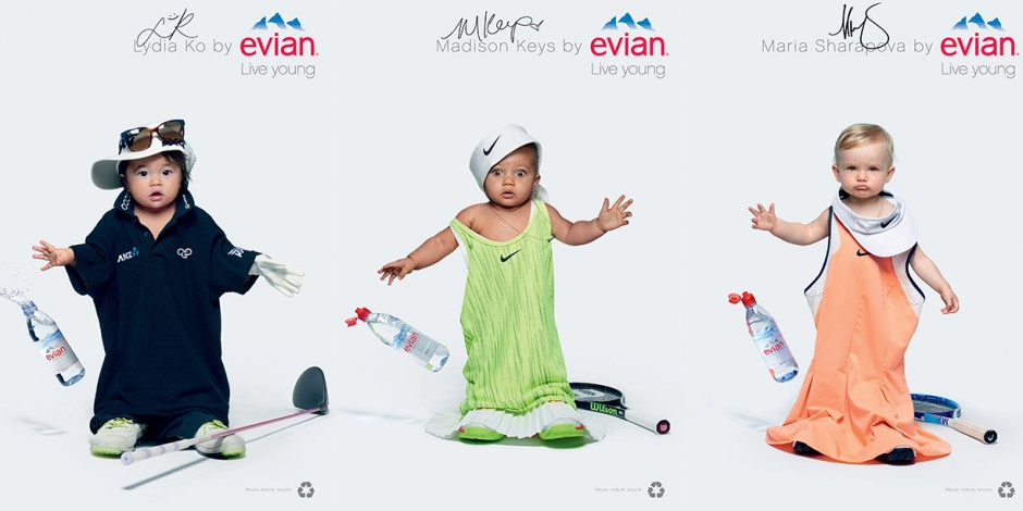 Evian Live Young Campaign
